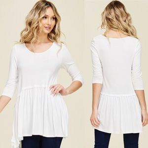 30% OFF BUNDLES S,M,L SUPER SOFT White Knot Top